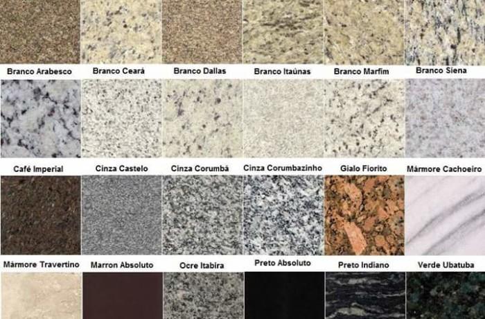 Tabela de Materiais – Mármore e Granito